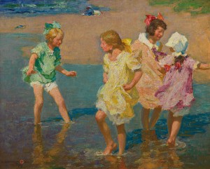 """Edward H. Potthast's """"Water Lilies,"""" at the Grand Hotel. courtesy of the Manoogian Collection."""