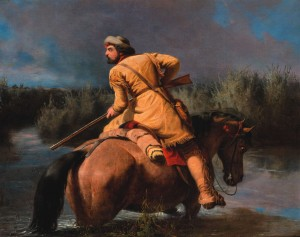 """""""Trapper's Last Shot"""" by William Ranney. Courtesy of The Broadmoor."""