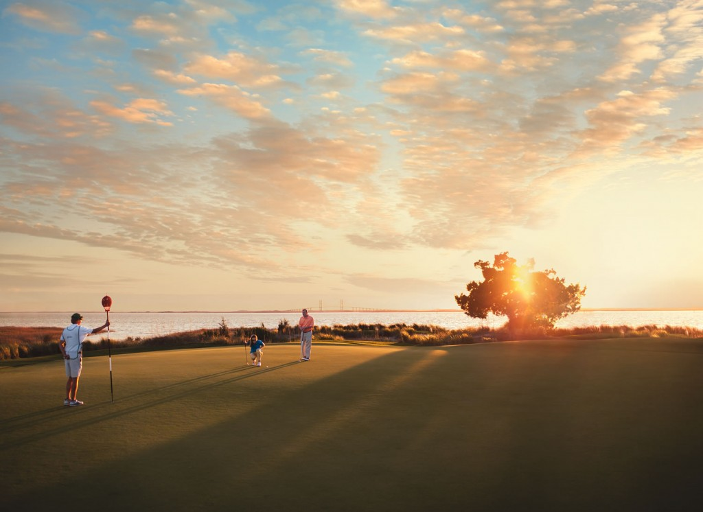 The Seaside Course at Sea Island is framed by tidal creeks and dunes.