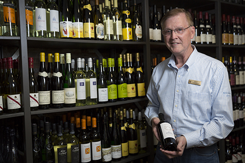 Wine concierge Guy Trapani creates a custom wine experience at The Market at Sea Island.