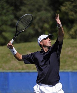 Matt Kuchar playing a round of tennis