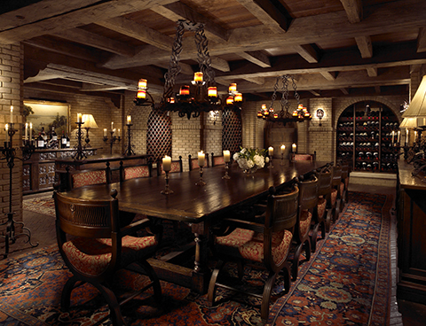 Sea Island's wine cellar can be reserved for private dining.
