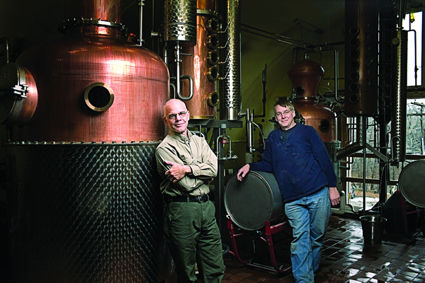 Ralph Erenzo (right) and Brian Lee of Tuthilltown Spirits | Photo by Darrel Earskine