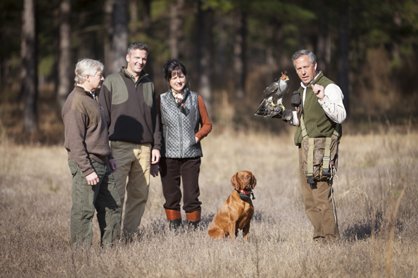 Hunts with falconers and Sea Island birds of prey can be tailored to guests of all skill levels.