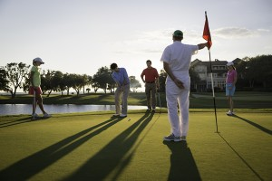 Caddies help maintain courses and can help familiarize players with every hole.