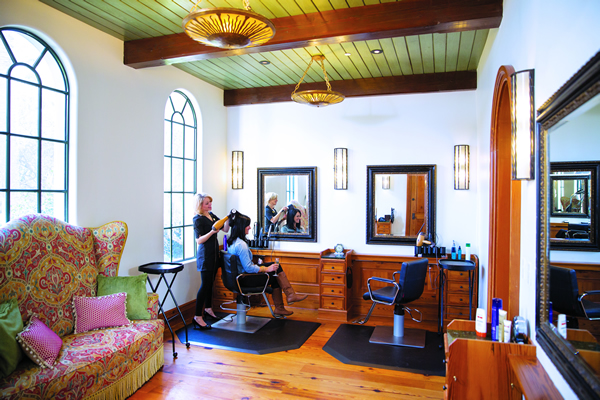 The Salon at Sea Island today