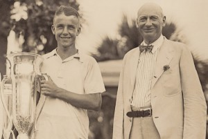 Sea Island founder Howard Coffin (right) with the 1931 championship winner, Charlie Yates.
