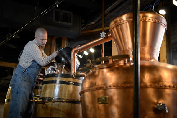 Justin King, master distiller of Ole Smoky Tennessee Moonshine