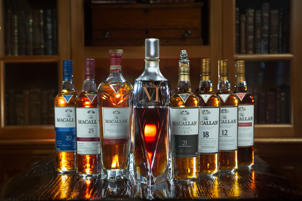Sea Island's collection of The Macallan is one of the largest in the Southeast and features rare bottles. | Chris Moncus Photography