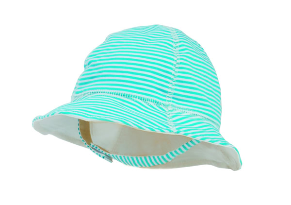 San Diego Hat Company kids' striped sun hat in aqua, $24 (Sea Island Surf Shop; 912-634-3123)