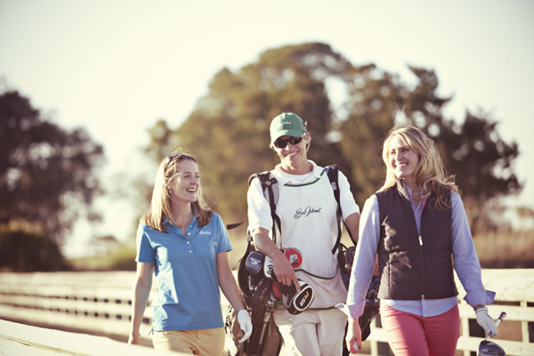 Guests and members at Sea Island can share a caddie.