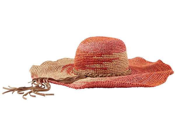 Tommy Bahama Spaced Dye Fringe Floppy Hat, $118 (tommybahama.com)