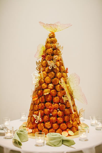 A croquembouche by chef Robert Bennett