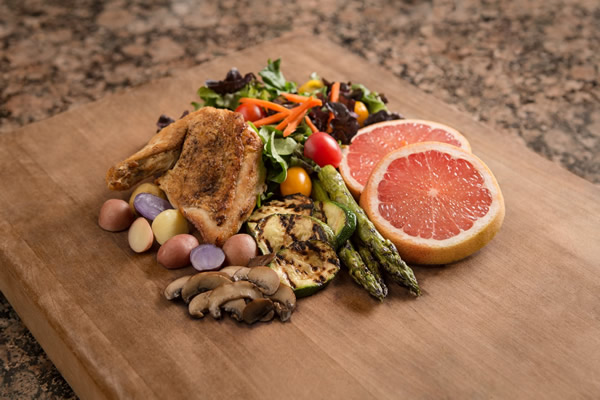 Get your plate in shape with a balanced mix of protein, fruits and vegetables, and complex carbohydrates. | Photo by Chris Moncus Photography